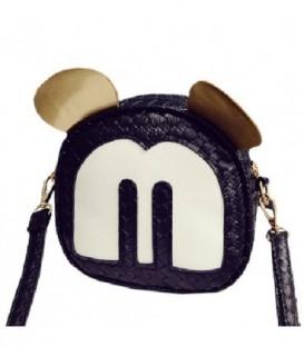 Dámská kabelka na rameno uši Mickey Mouse černá WB1727