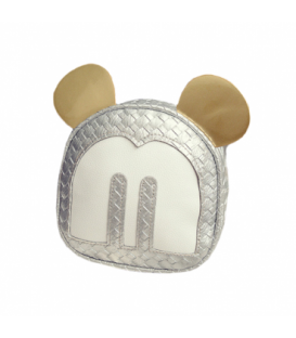 Dámská kabelka na rameno uši Mickey Mouse stříbro WB1727
