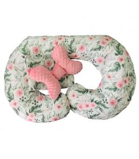 TĚHOTENSKÝ POLŠTÁŘ pro kojení v těhotenství květiny SADA