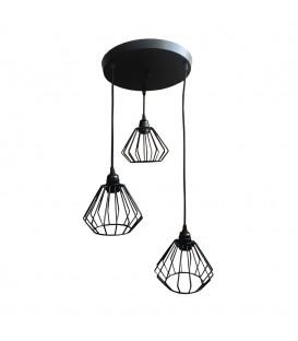 LUSTR ZÁVĚSNÉ LAMPY LOFT INDUSTRIAL BRYLANT