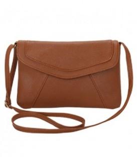 Dámská kabelka psaníčko kožená kůže hnědý WB1705