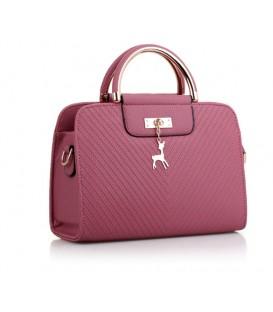 Dámská kožená kabelka malý růžový