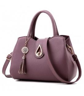 Dámská kožená taška velká taška fialový