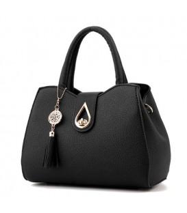 Dámská kožená taška velká taška černá