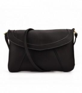 Dámská kabelka psaníčko kožená kůže černá WB1705
