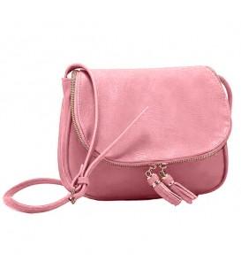 Dámská KOŽENÁ kabelka růžový WS1016