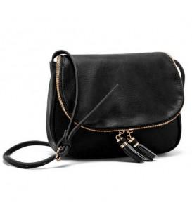 Dámská KOŽENÁ kabelka černá WS1016