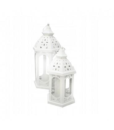 LUCERN LAMPION LUCERNIČKA bílá kov