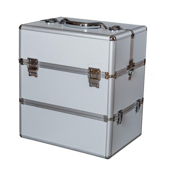Kosmetický kufřík 5032B stříbro