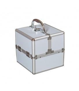 Kosmetický kufřík 5042B stříbro