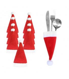 Vánoční POUZDRO NA PŘÍBOR obleček etui čepice 10 ks