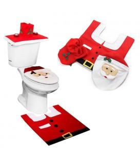Vánoční sada do koupelny potah na WC Mikuláš