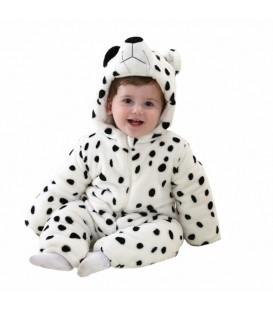 PYŽAMO onesie kigurumi pro děti medvědí tečky