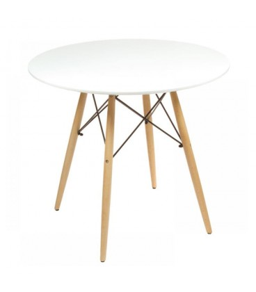 MODERNÍ KULATÝ STŮL 60CM stůl EIFFEL bílý