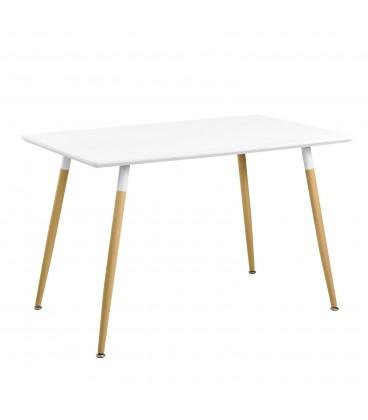 Moderní kulatý stůl 80cm modern bílý 120x80