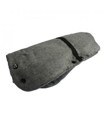 RUKÁVNÍK zateplená rukavice kočárek sáňky hrubý TMAVĚ ŠEDÁ