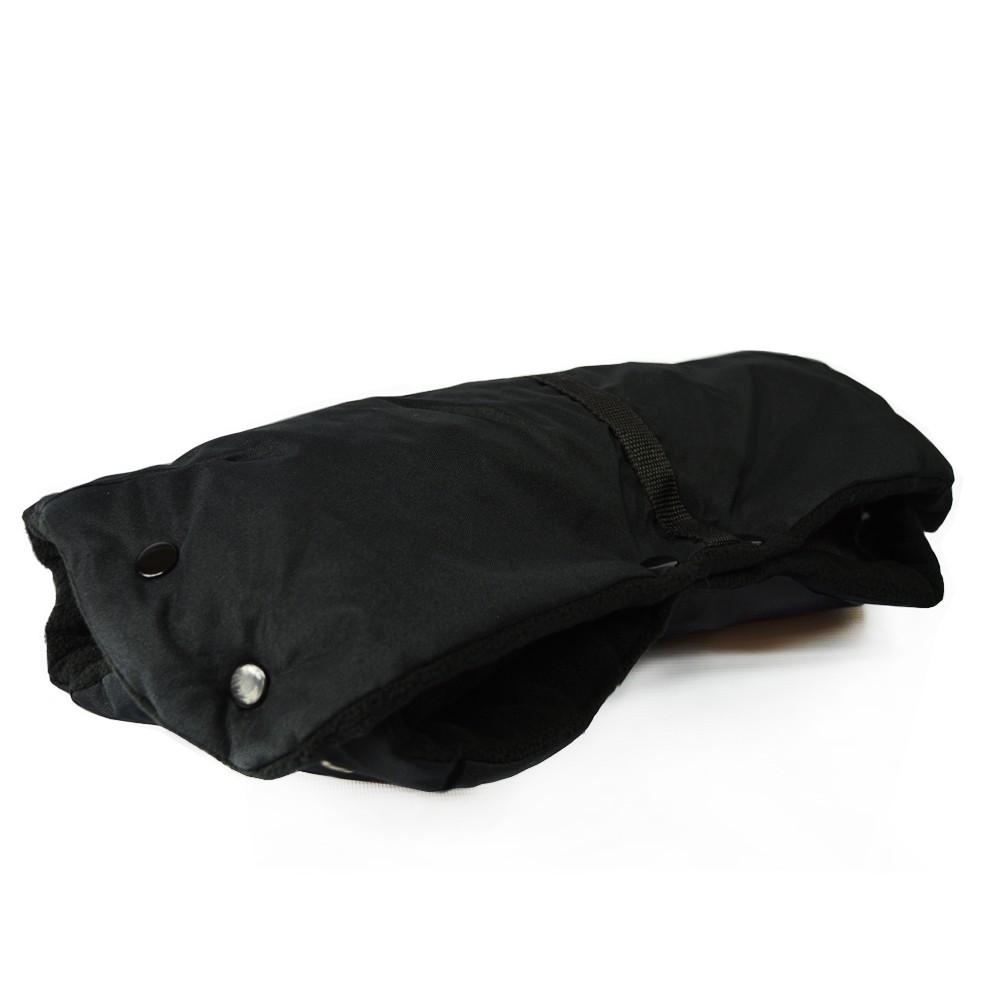 RUKÁVNÍK zateplená rukavice kočárek sáňky hrubý ČERNÁ