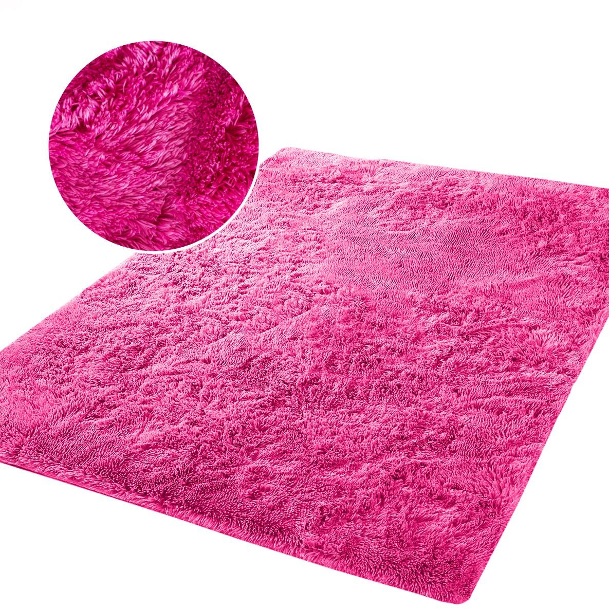 Měkký plyšový koberec chlupatý mikrovlákna 160x230  růžový neon