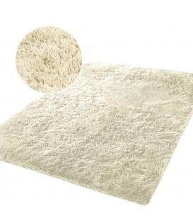 Měkký plyšový koberec chlupatý mikrovlákna 160x230 béžový