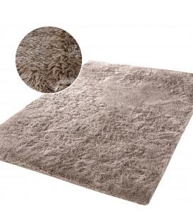 Měkký plyšový koberec chlupatý mikrovlákna 160x230 capuccino