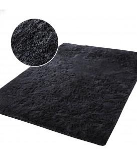 Měkký plyšový koberec chlupatý mikrovlákna 160x230 černá
