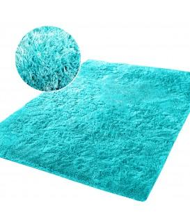 Měkký plyšový koberec chlupatý mikrovlákna 160x230 máta