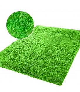 Měkký plyšový koberec chlupatý mikrovlákna 160x230 zelená
