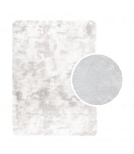 Měkký plyšový koberec chlupatý mikrovlákna 60x90 bílá