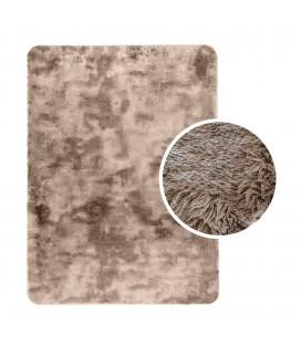 Měkký plyšový koberec chlupatý mikrovlákna 60x90 capuccino