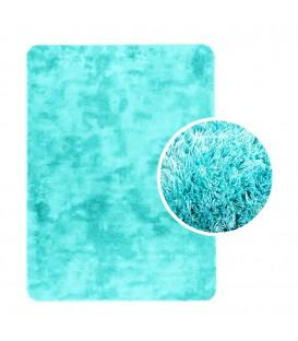 Měkký plyšový koberec chlupatý mikrovlákna 60x90 máta