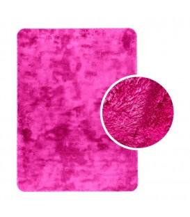 Měkký plyšový koberec chlupatý mikrovlákna 60x90 růžový neon
