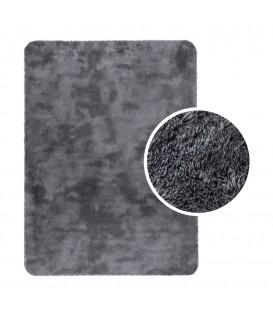 Měkký plyšový koberec chlupatý mikrovlákna 60x90 stříbro