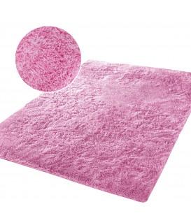Měkký vysoký plyšový koberec 140x200 PLYŠ růžový