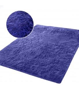 Měkký vysoký plyšový koberec 140x200 PLYŠ fialový