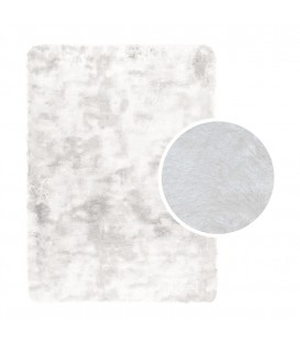 Plyšový koberec mikrovlákno vysokýchlupatý 120x170  bílá