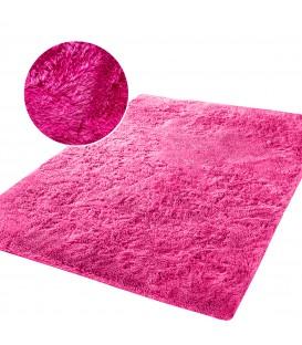 Plyšový koberec mikrovlákno vysokýchlupatý 120x170  růžový neon