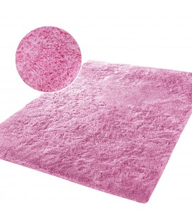 Plyšový koberec mikrovlákno vysokýchlupatý 120x170  růžový