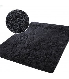 Plyšový koberec mikrovlákno vysokýchlupatý 120x170 černá