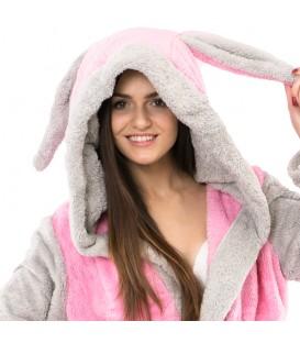 Teplý plyšový župan zvířátka králík