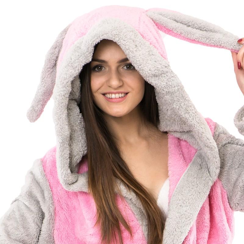 Teplý plyšový župan zvířátka králíček