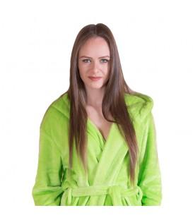Teplý plyšový župan zelená