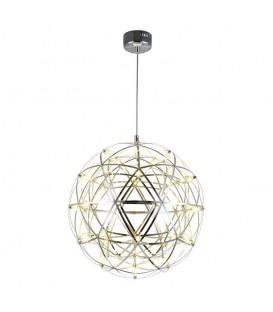 lampa LUSTR LED koule stříbrné kovové dráty 70cm