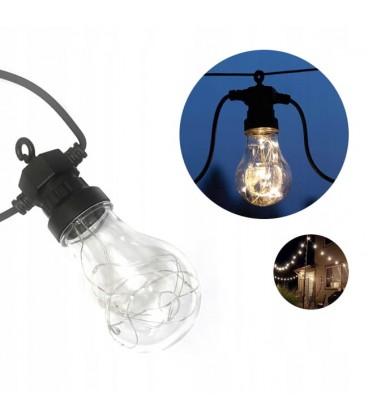 GIRLANDA ZAHRADNÍ OSVĚTLENÍ IP65 LED žárovky