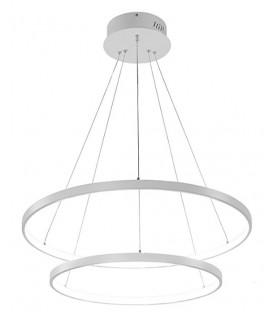 LUSTR KROUŽKY LAMPA KRUHY OBRUČE LED 20 + 40CM 38W