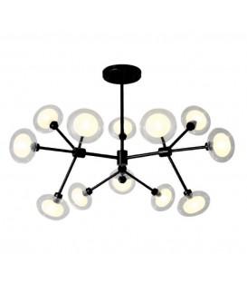 lustr černá černá stropní lampa elegantní G9