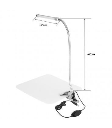 KOSMETICKÁ LAMPA stolní lampa s klipem LED