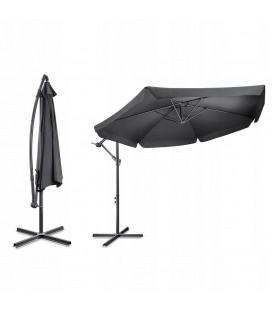 zahradní deštník velký šedý 350CM skládací