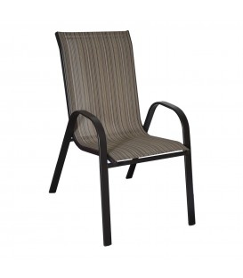 ZAHRADNÍ ŽIDLE terasová židle Hnědý