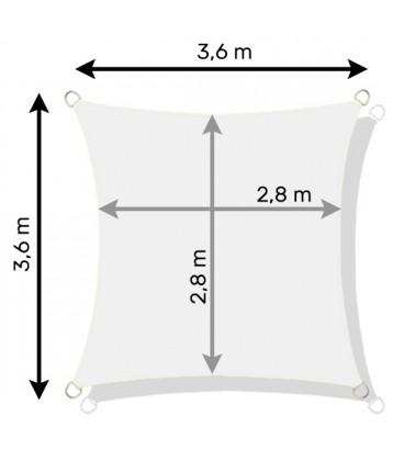 SLUNEČNÍ PLACHTA zahradní STÍNĚNÍ 3,6x3,6 m béžový