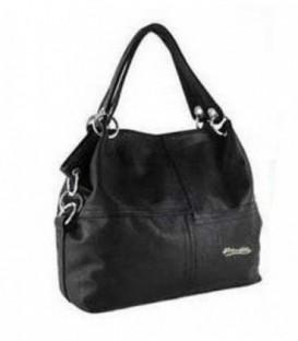 Dámská kožená kabelka trapéz WEIDIPOLO polo černá  WS1011